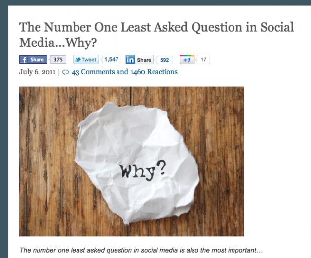 ソーシャル化のための10の質問