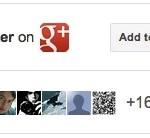 Google+バッジでWebサイトから誘導