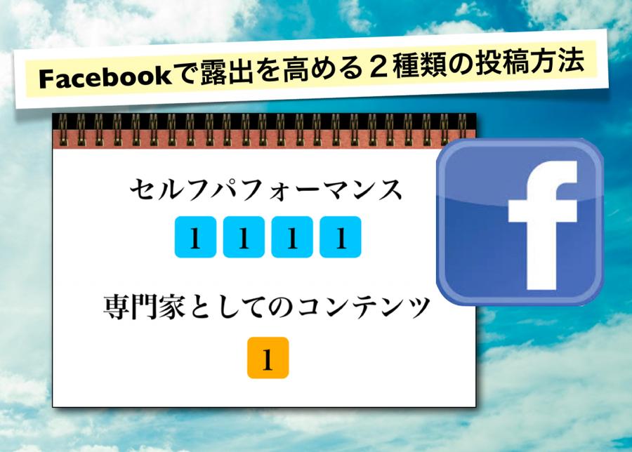 Facebookで露出を高める2種類の投稿方法