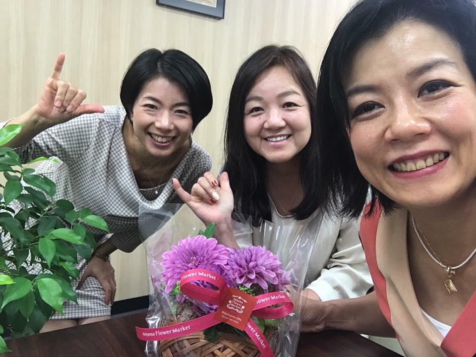 石坂典子さん・阪井ふみさん・長瀬葉弓さん