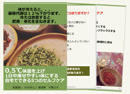 【無料eBook】0.5℃体温上げ1日中痩せやすい体にする自宅でできる5つのセルフケア